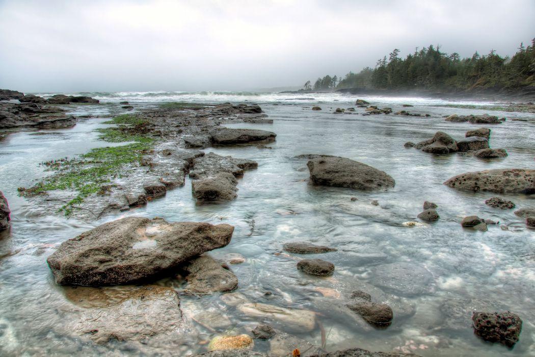 Canada Stones Rivers Squamish British Columbia Nature wallpaper