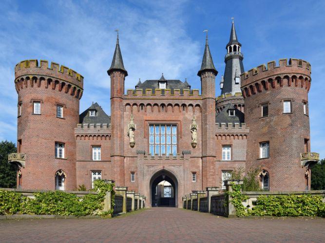 Germany Castles Moyland Castle Cities wallpaper
