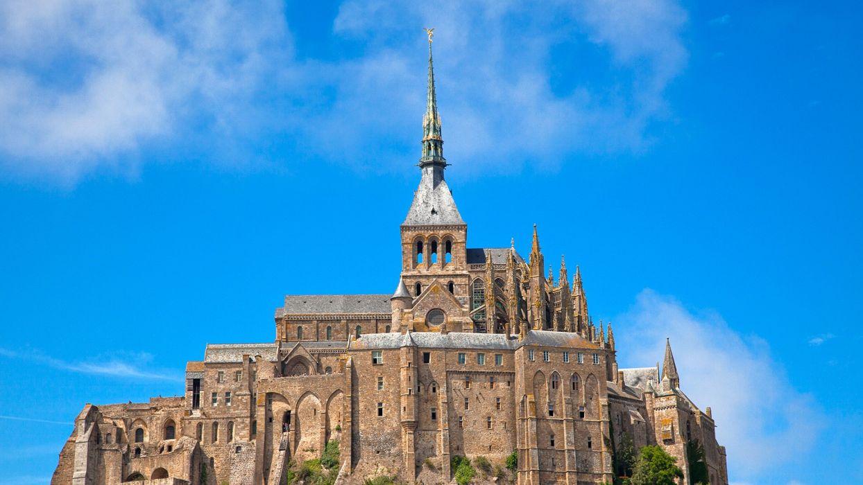 Sky France Castles Mont Saint-Michel Cities wallpaper