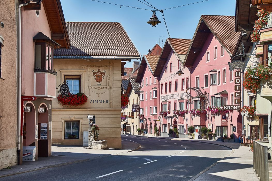 Houses Roads Austria Street Matrei am Brenner Cities wallpaper