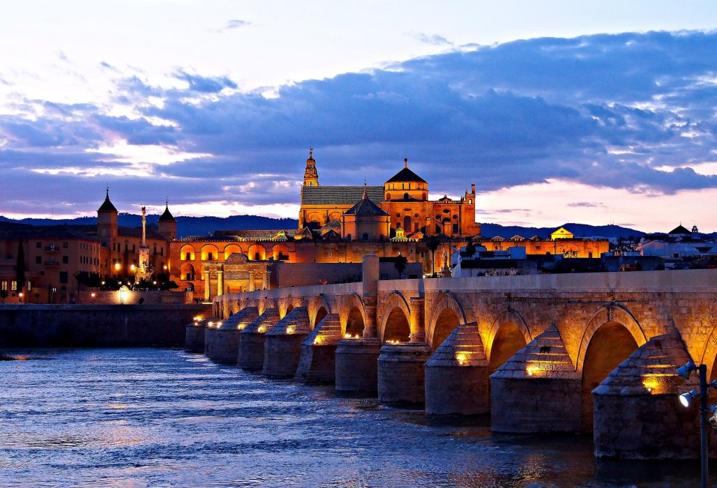 Bridges Evening Spain Cities wallpaper