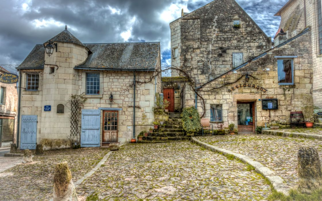 France Houses Candes-Saint-Martin Cities wallpaper