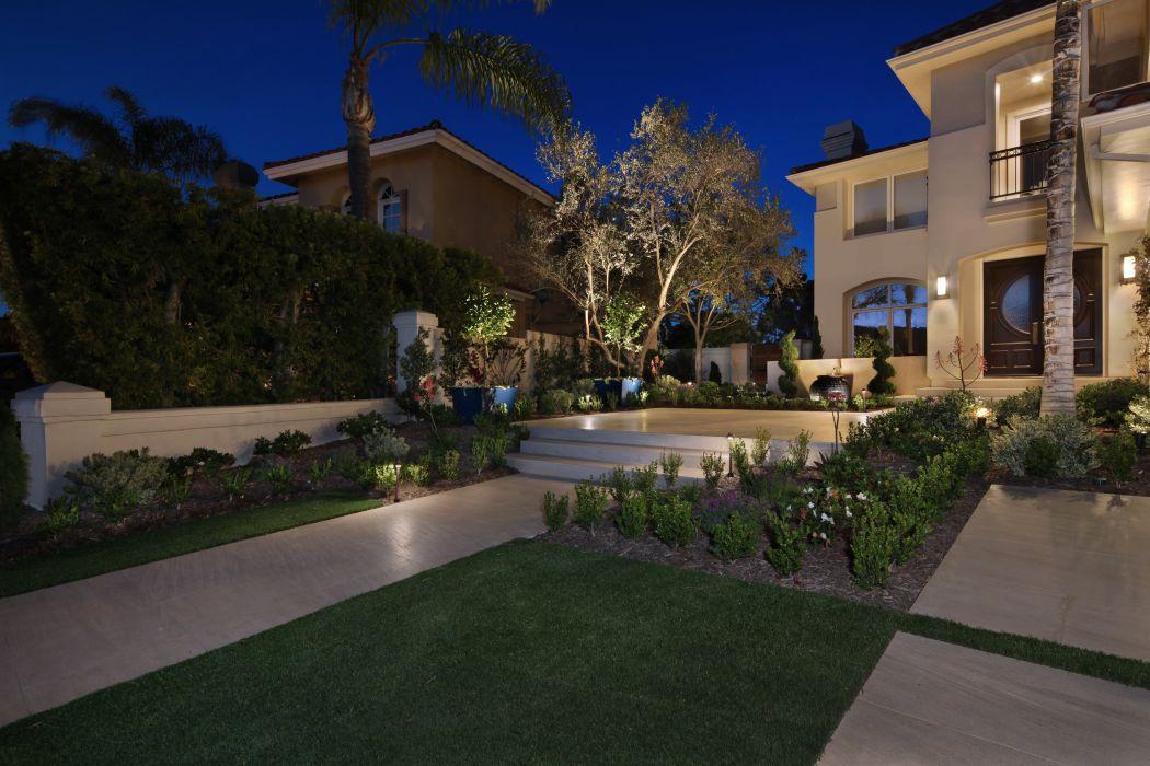 USA Houses Landscape Night Lawn Laguna Niguel Cities wallpaper