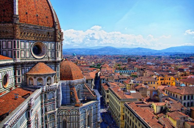 Houses Italy Florence Cathedral Cities wallpaper