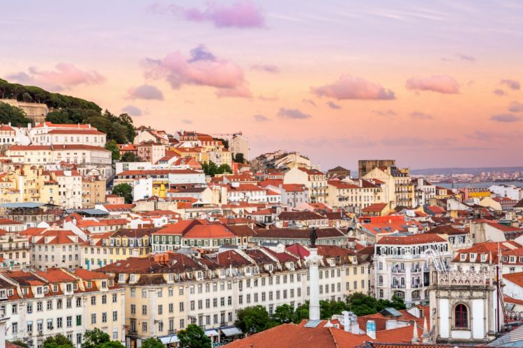 Houses Portugal Lisbon Cities wallpaper