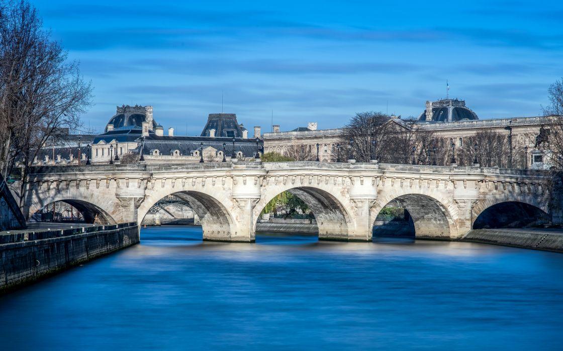 France Rivers Bridges Paris Cities wallpaper