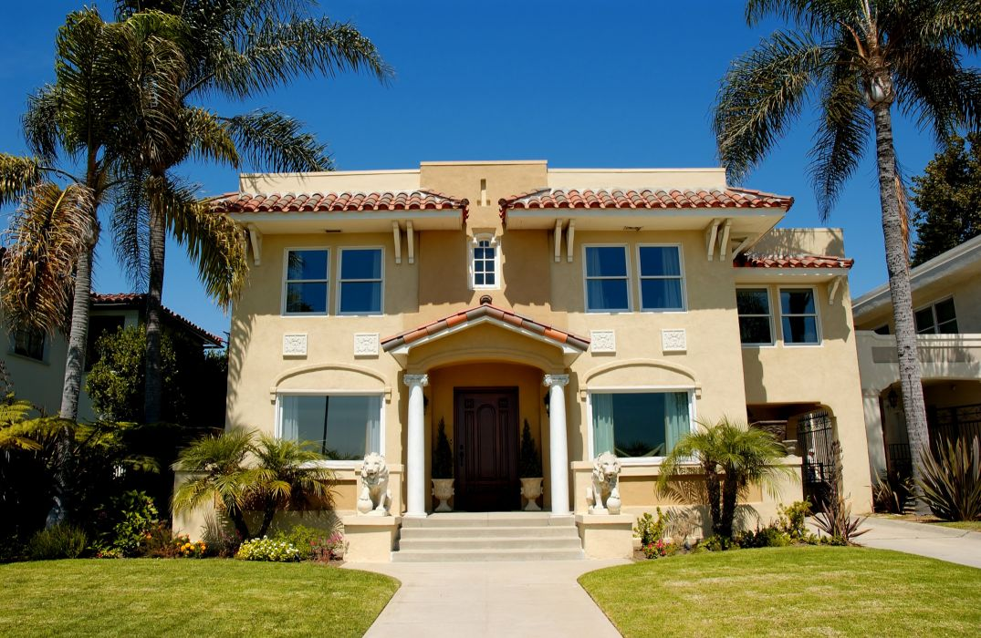Houses Mansion Design Lawn Palma Cities wallpaper