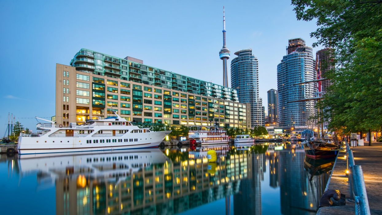 Houses Canada Yacht Toronto Cities wallpaper