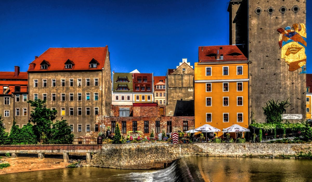 Germany Houses Rivers Street Goerlitz Cities wallpaper