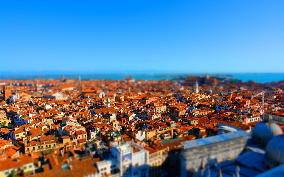Houses Italy From above Venice tilt-shift Cities wallpaper