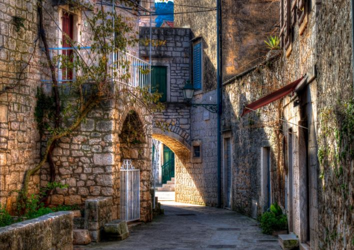 Croatia Houses HDR Street Stari Grad Cities wallpaper