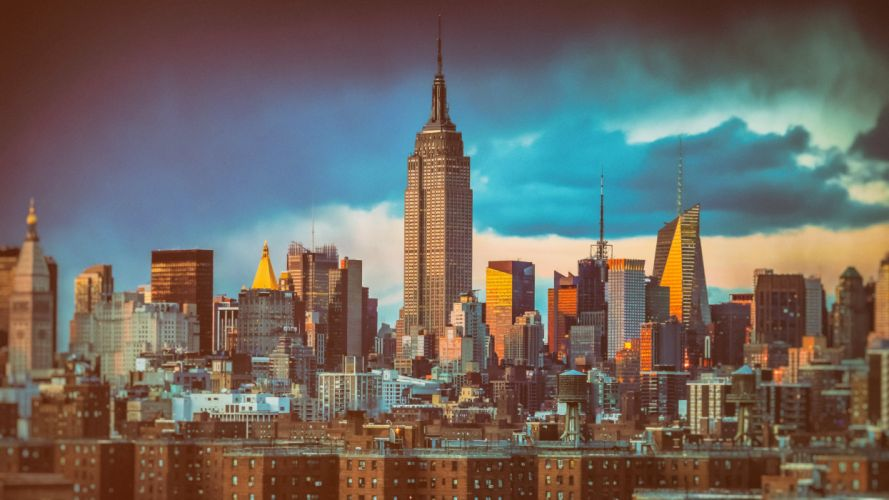 Houses Skyscrapers USA New York City Empire State Building Cities wallpaper