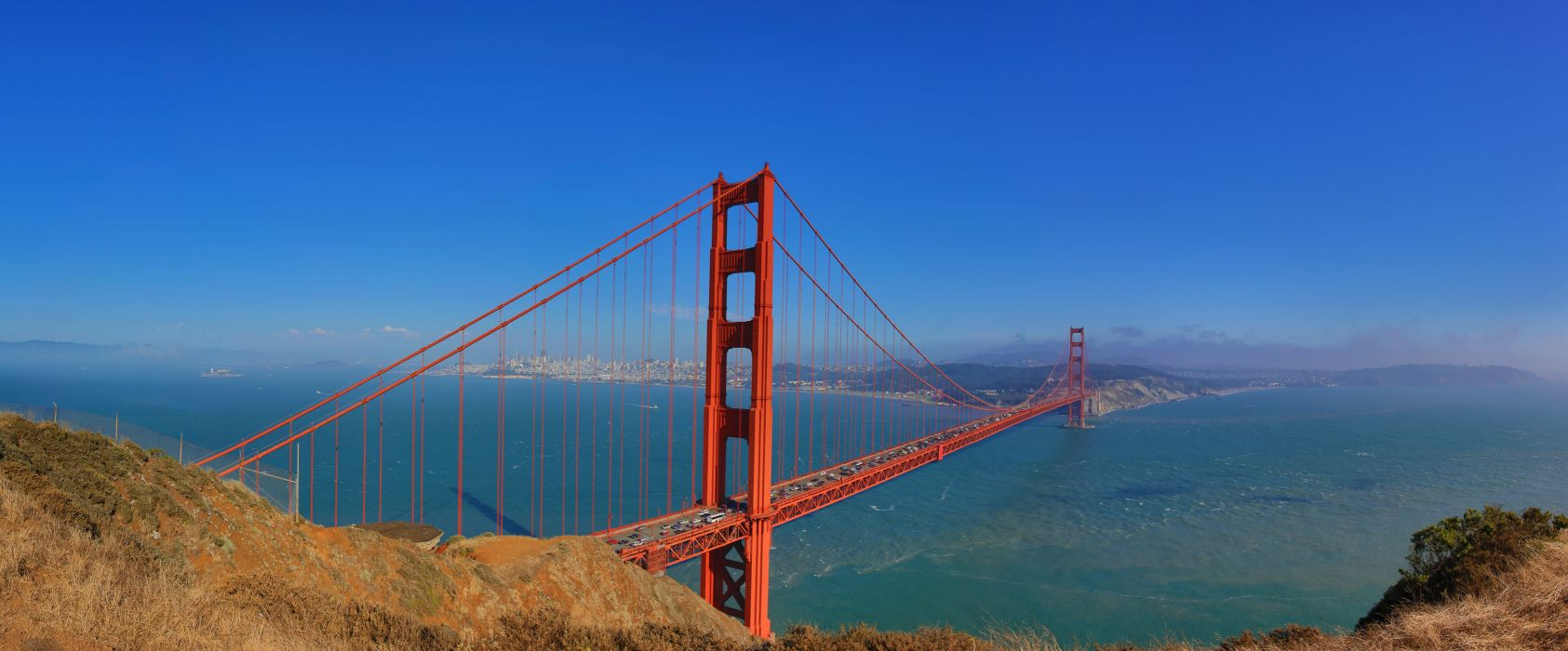 Sky Bridges USA San Francisco Golden Gate Bridge Cities wallpaper