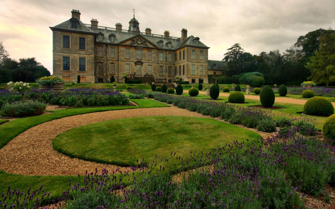 England Houses Parks Shrubs Lawn Belton Lincolnshire Cities wallpaper