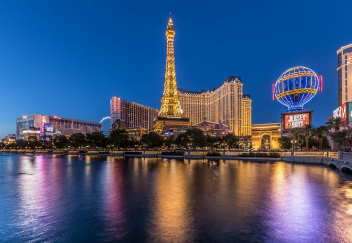 USA Houses Rivers Las Vegas Night Cities wallpaper
