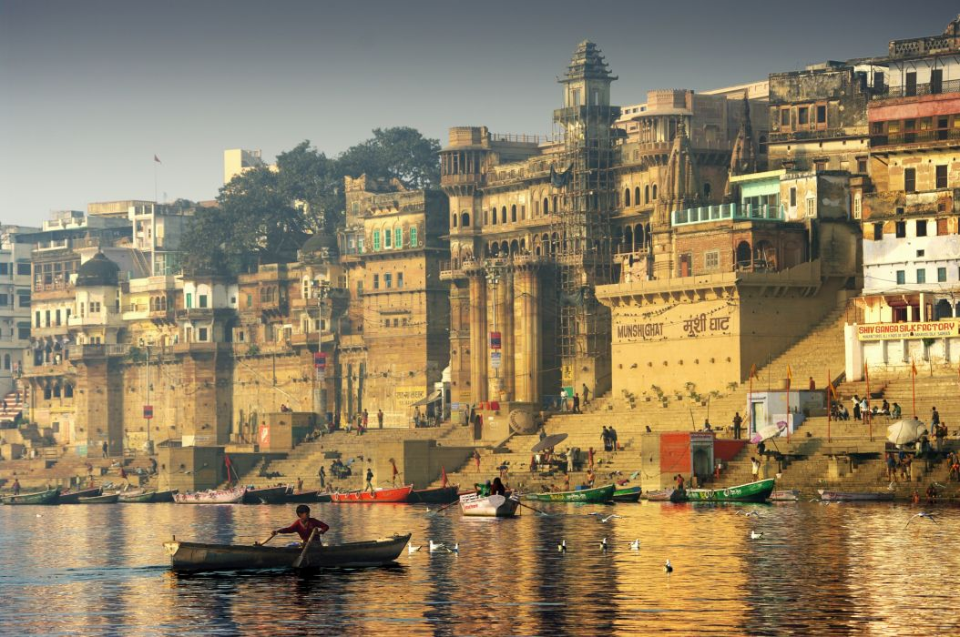 Coast Boats Houses India Cities wallpaper