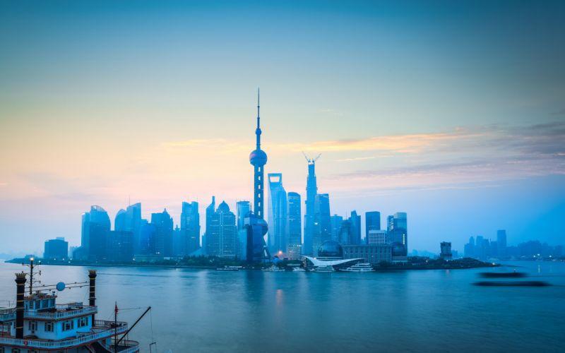Houses Coast China Shanghai Sky Cities wallpaper