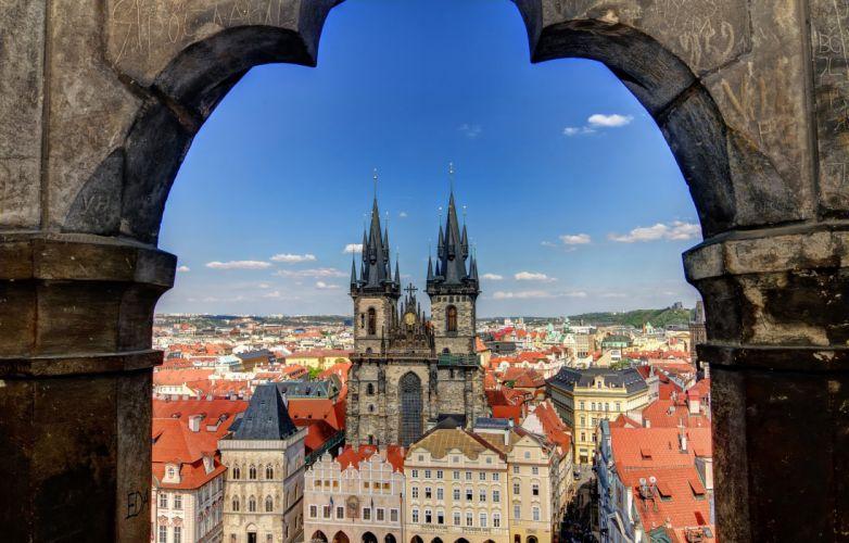Houses Prague Czech Republic Cities wallpaper