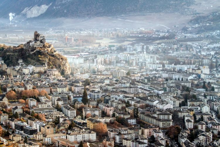 Houses Switzerland Sion Cities wallpaper