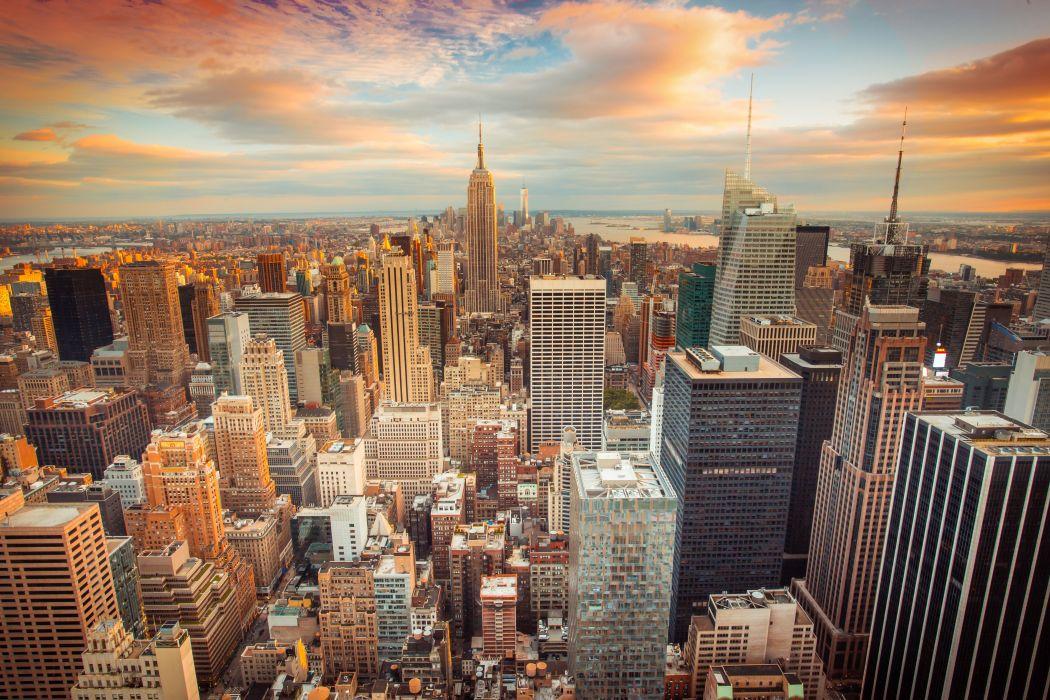 Houses USA Megapolis New York City Cities wallpaper