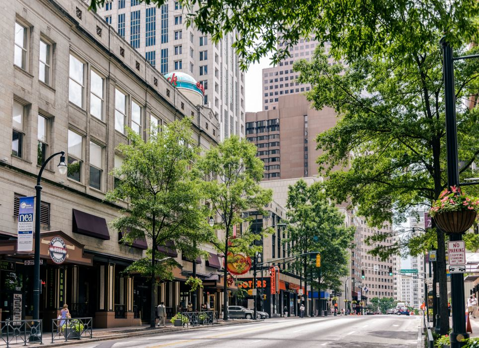 Houses USA Street Atlanta Georgia Cities wallpaper