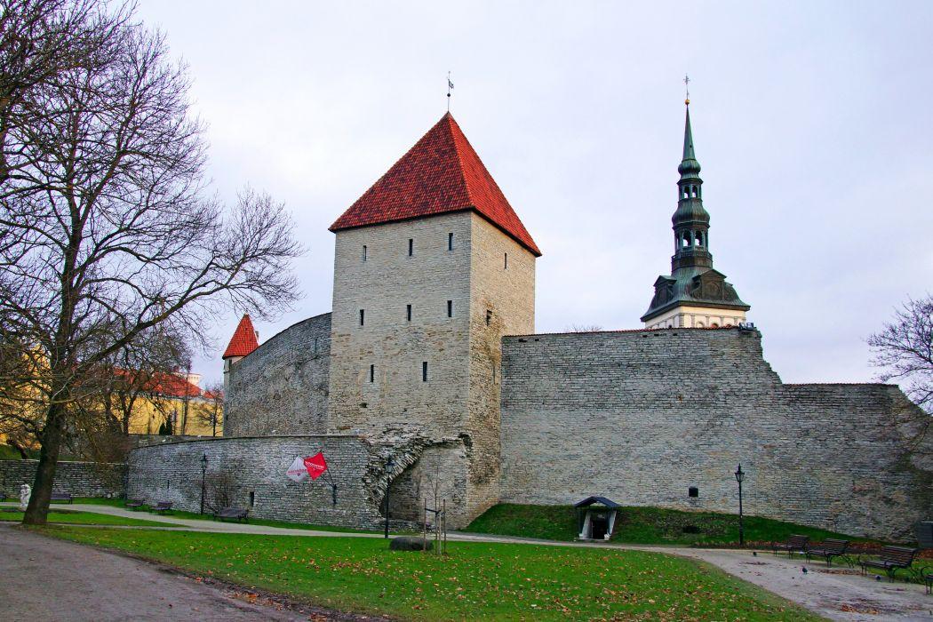 Estonia Fortress Virgin's Tower Tallinn Cities wallpaper