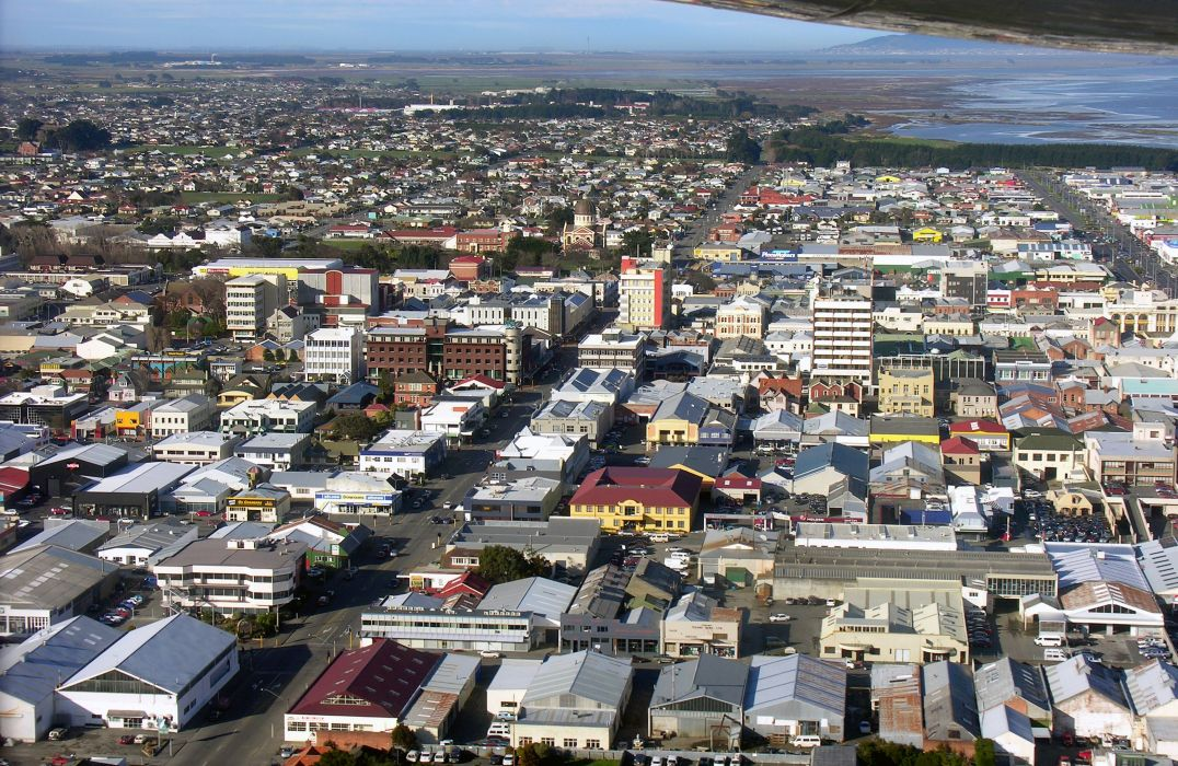 Houses New Zealand From above Southland Cities wallpaper