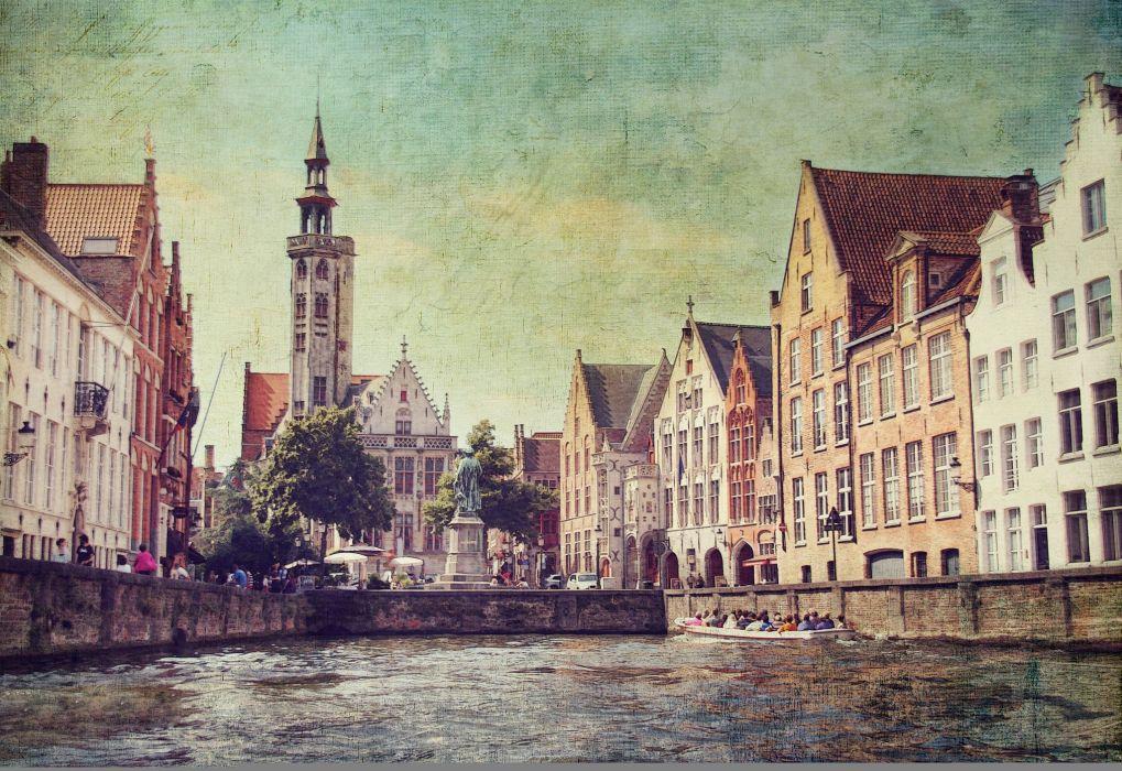 Houses Belgium Bruges Cities wallpaper