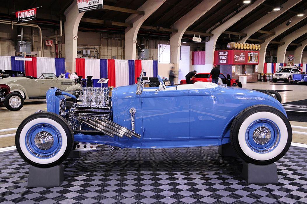 1928 Ford Model-A Convertible Hot Rod Hotrod Custom Old School USA -01 wallpaper