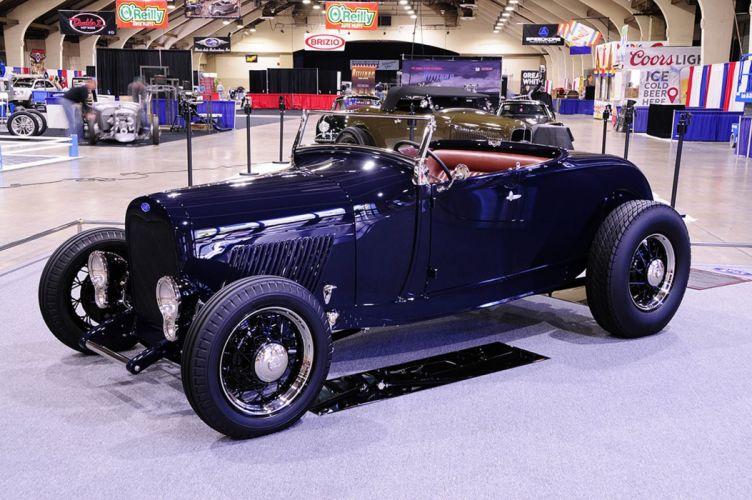 1928 Ford Model-A Convertible Hot Rod Hotrod Custom Old School USA -02 wallpaper