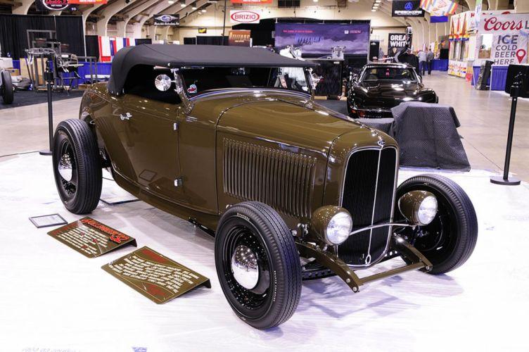 1932 Ford Convertible Hightboy Hot Rod Hotrod Custom Old School USA -01 wallpaper