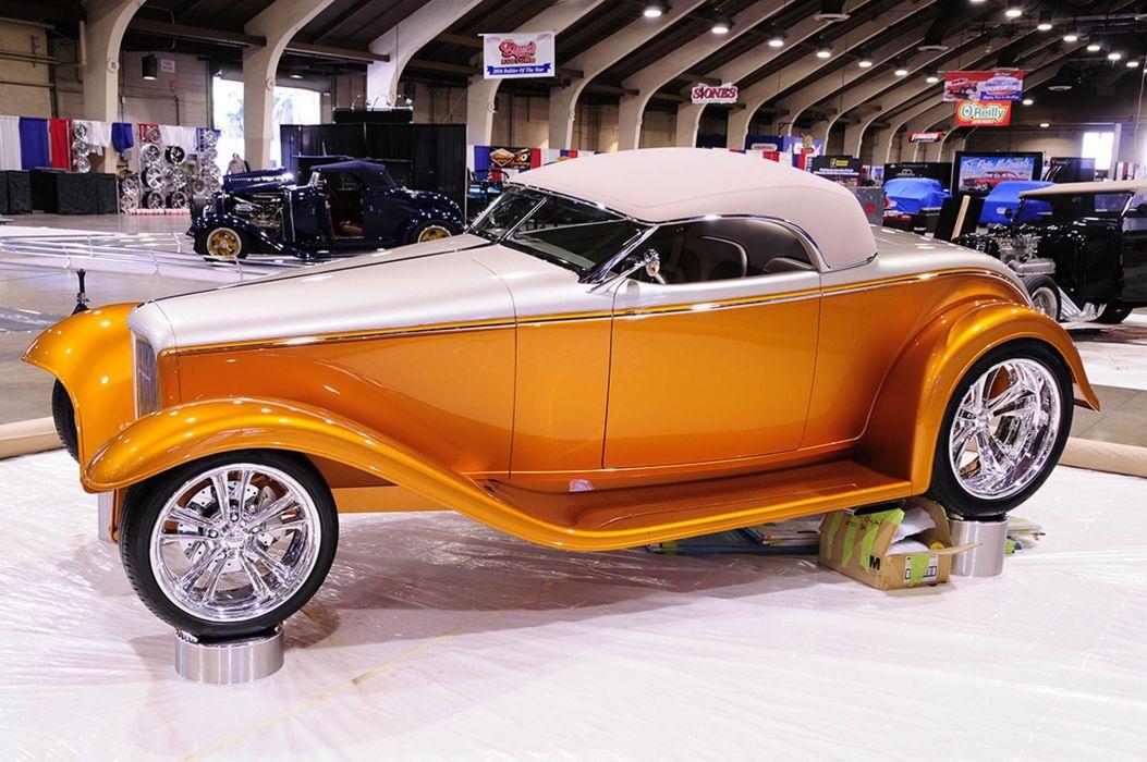 1932 Ford Convertible Hot Rod Hotrod Street Rodder Hi-Tech USA -01 wallpaper