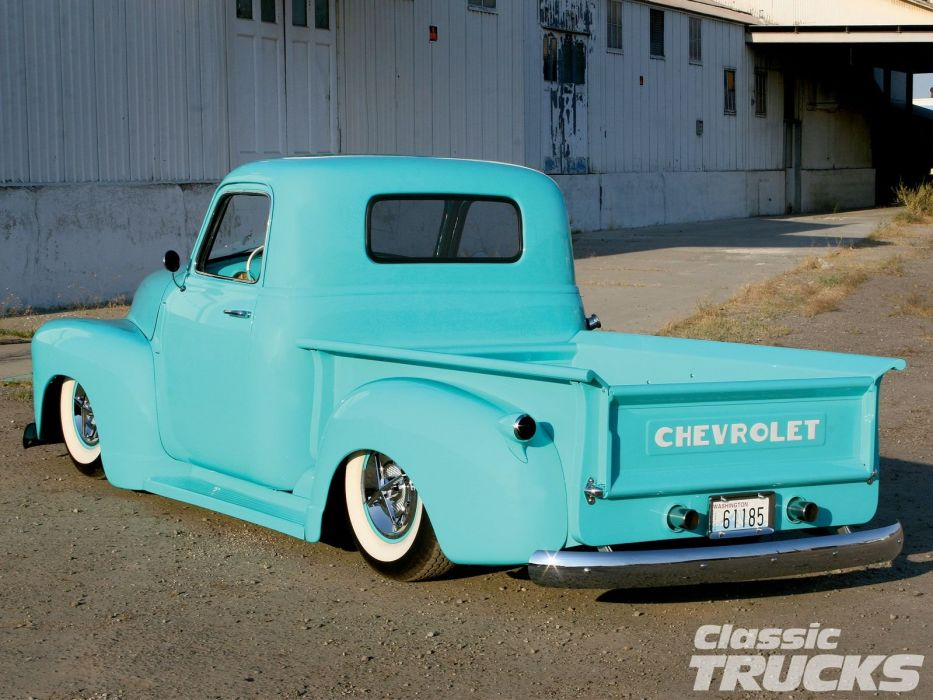 1950 Chevrolet 3100 Pickup Hotrod Hot Rod Custom Kustom Old School Low USA 1600x1200-04 wallpaper