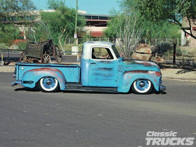 1950 Chevrolet 3100 Pickup Hotrod Hot Rod Custom Kustom Old School USA 1600x1200-02 wallpaper