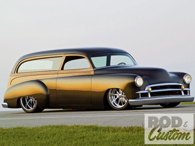 1950 Chevrolet Chevy Styleline Deluxe Station Wagon Hotrod Streetrod Hot Rod Street Rodder Low Woodie USA 1600x1200-01 wallpaper