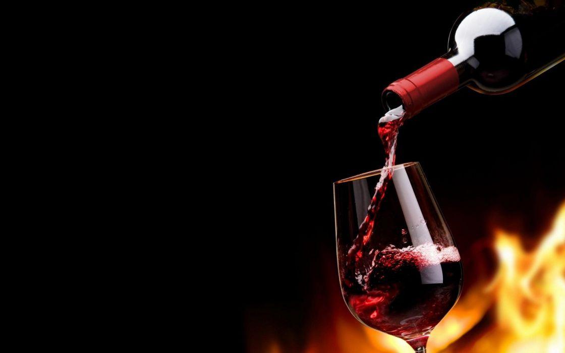 botella vino copa vidrios wallpaper