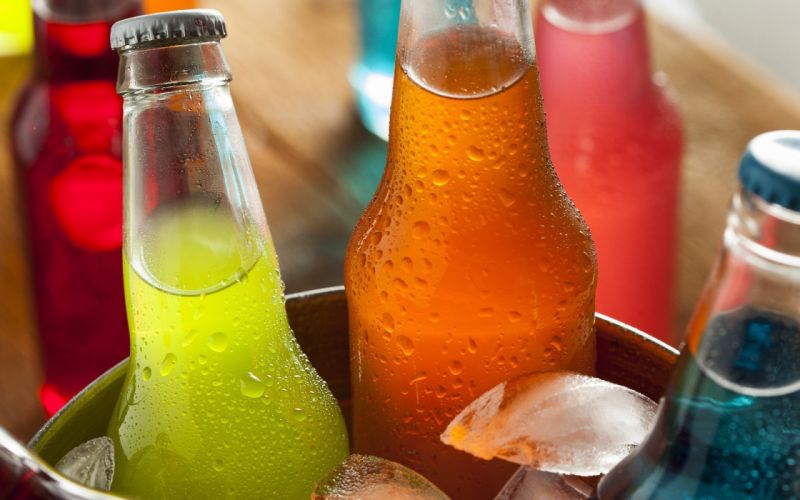botellas refrescos frutas vidrio wallpaper