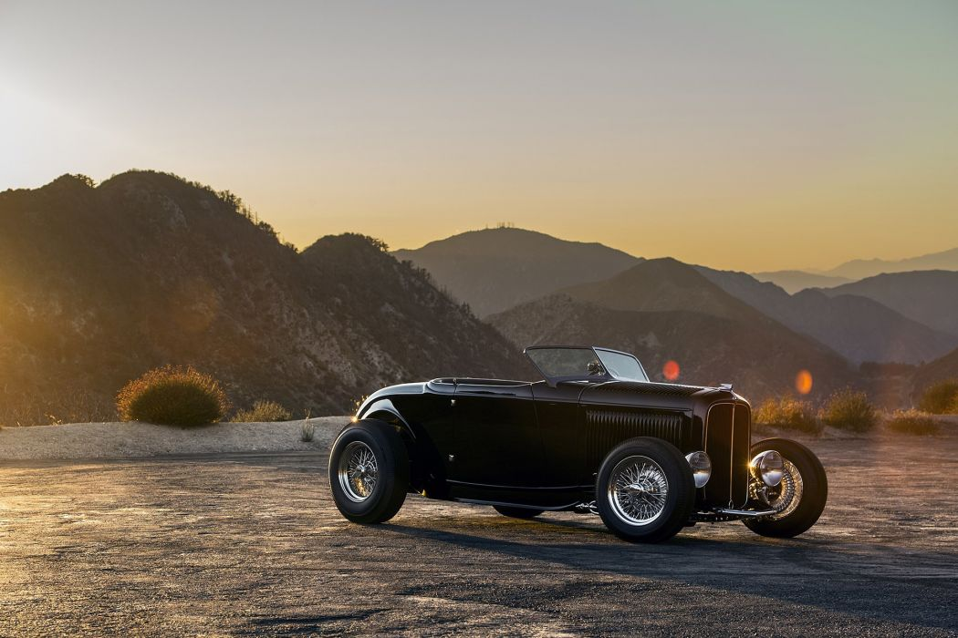 Hot Rods 1932 Ford black cars retro wallpaper