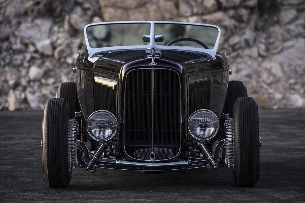 Hot Rods 1932 Ford black cars retro wallpaper