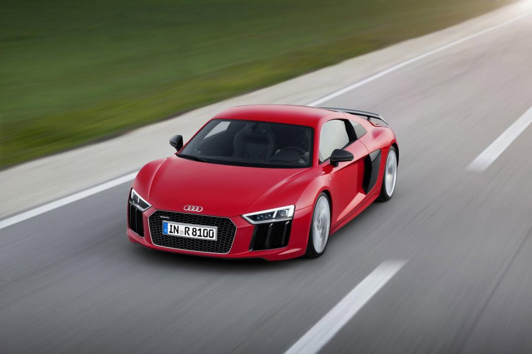 2016 Audi R8 V10 coupe cars red wallpaper