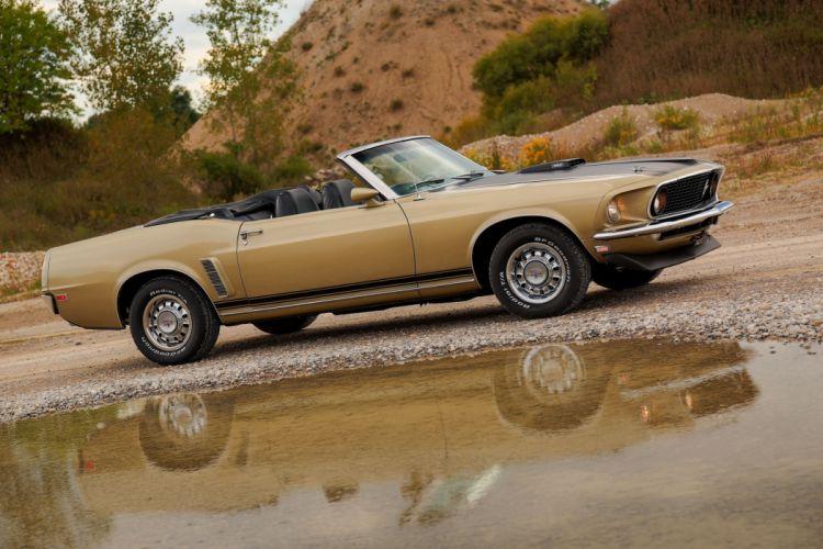 1969 Ford Mustang convertible cars wallpaper