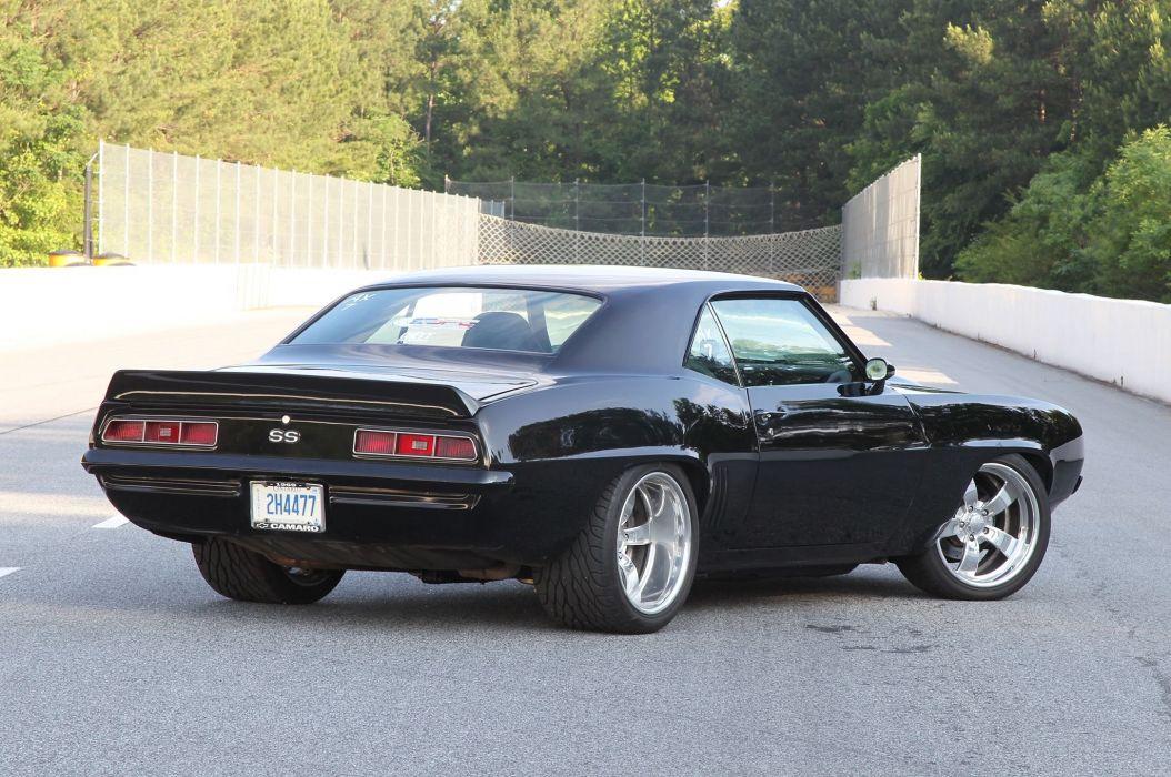 1969 Chevrolet Pro Touring Camaro cars black wallpaper