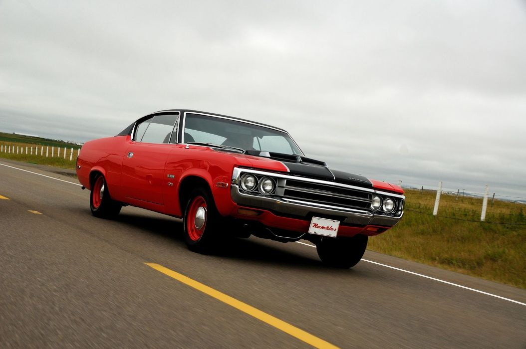 1971 AMC Matador cars coupe classic red wallpaper