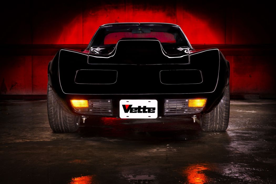 1976 Chevrolet Corvette (c3) cars black modified wallpaper