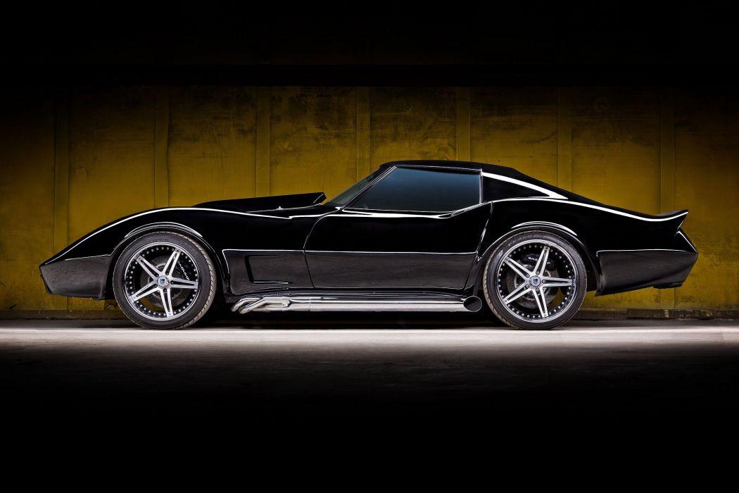1976 Chevrolet Corvette (c3) cars black modified wallpaper