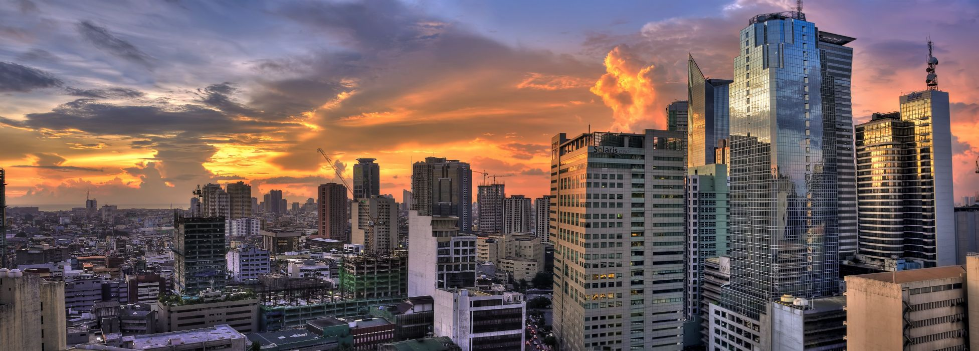 Houses Evening Philippines Clouds Cities wallpaper