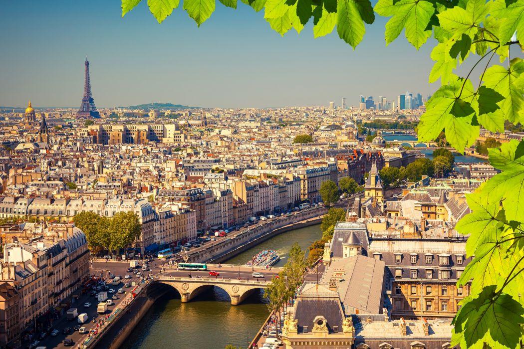 France Houses Rivers Bridges Paris Foliage Cities wallpaper