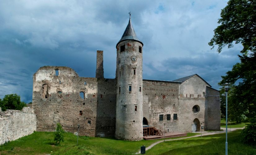 Estonia Ruins Castle Haapsalu Castle Cities wallpaper