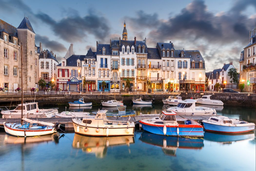 France Houses Marinas Motorboat Croisic Cities wallpaper