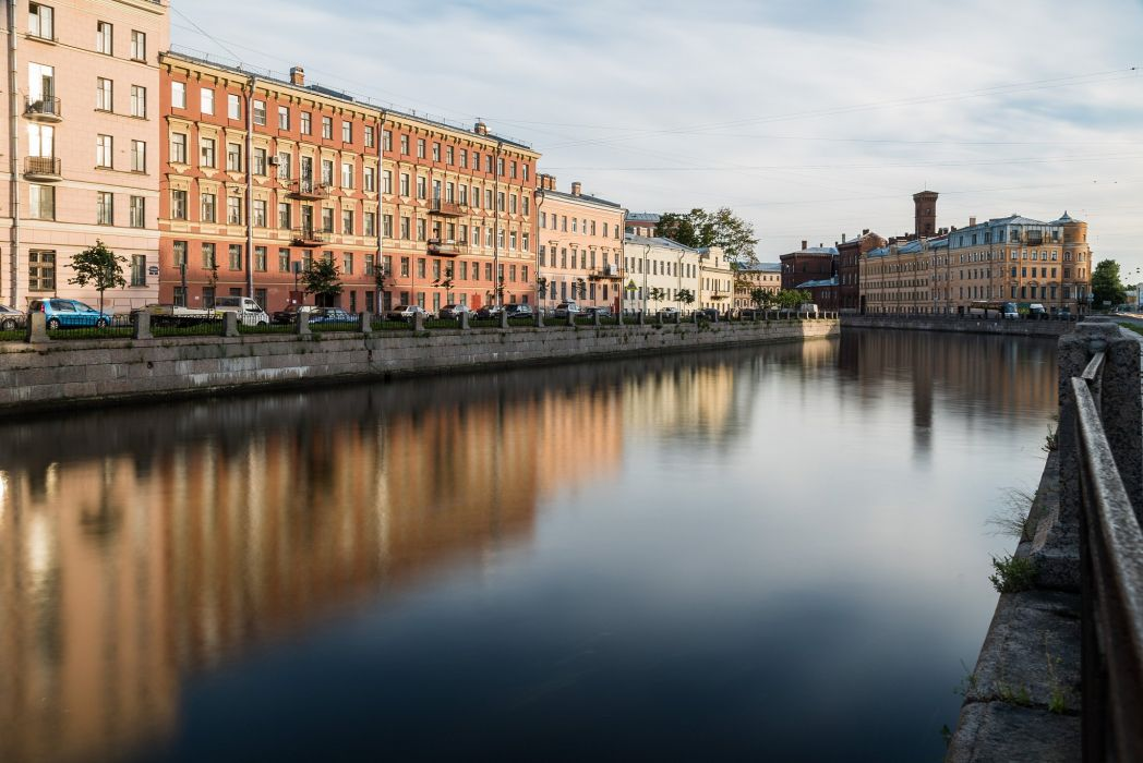 Houses St Petersburg Russia Canal Cities wallpaper